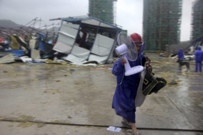 More than A Million People Evacuated for Transit Typhoon in China