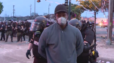 Buildings in Minneapolis on Fire: the Riot Police Arrested A CNN Reporter