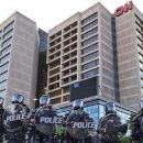 News Channel CNN Departs From CNN Center Atlanta