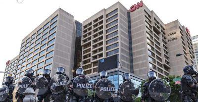 News Channel CNN Departs From CNN Center Atlanta