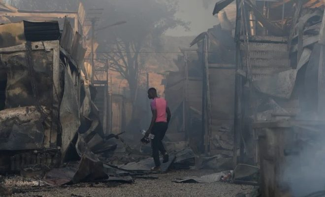 Greek Refugee Camp Moria Almost Destroyed by Fire
